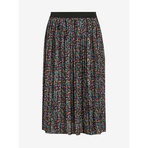 Tmavozelená kvetovaná plisovaná sukňa Jacqueline de Yong Boa vyobraziť