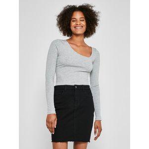 Čierna rifľová púzdrová mini sukňa Noisy May Callie vyobraziť