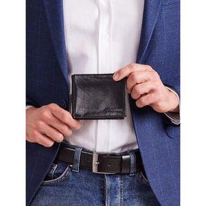Men´s black leather wallet vyobraziť