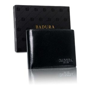 BADURA Men´s black leather wallet vyobraziť