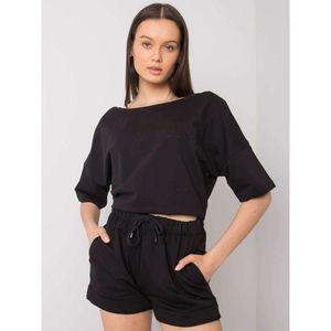 Women's black cotton set vyobraziť
