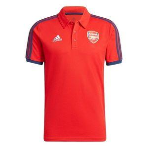 Adidas Arsenal 3 Stripe Polo Shirt 2021 2022 Mens vyobraziť