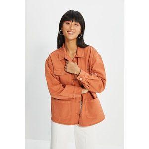 Trendyol Cinnamon Pocket Detailed Denim Shirt Jacket vyobraziť