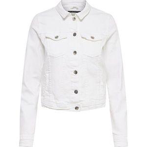 ONLY Dámska džínsová bunda ONLTIA LIFE 15177238 White 36 vyobraziť