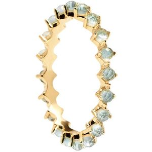 PDPAOLA Nežný pozlátený prsteň so zirkónmi MINT BIRD Gold AN01-140 52 mm vyobraziť