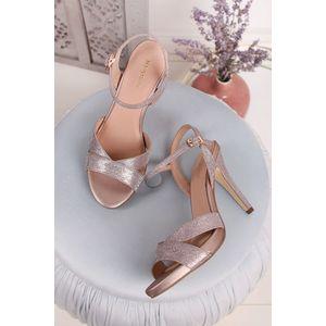 Ružovozlaté sandále na tenkom podpätku Vetriola vyobraziť