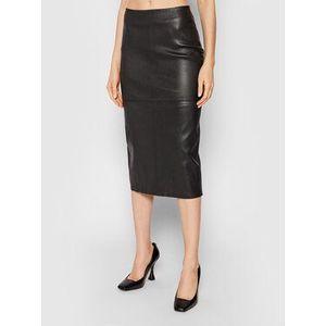 Birgitte Herskind Kožená sukňa Beate 4163791 Čierna Slim Fit vyobraziť