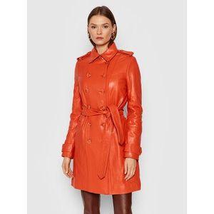 Guess Kožená bunda Felicia W1BL25 L0PK0 Oranžová Regular Fit vyobraziť