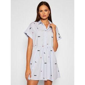 Tommy Jeans Košeľové šaty Sritter Drop DW0DW08469 Modrá Regular Fit vyobraziť