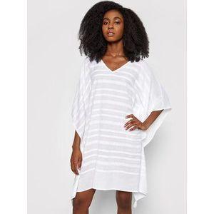 Seafolly Plážové šaty Geo Jacquard 54256-KA Biela Relaxed Fit vyobraziť