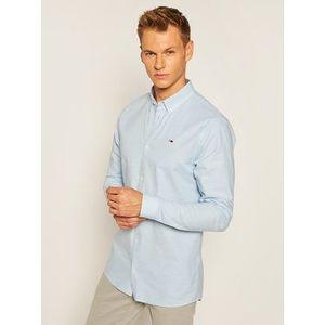 Tommy Jeans Košeľa Tjm Stretch Oxford DM0DM06562 Modrá Slim Fit vyobraziť