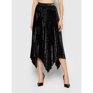 TWINSET Plisovaná sukňa 212AT2342 Čierna Regular Fit vyobraziť