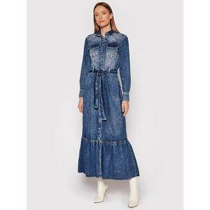 Fracomina Košeľové šaty FP21WD4001D40002 Modrá Regular Fit vyobraziť