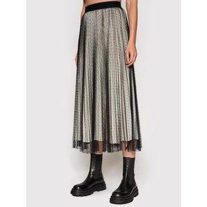 TWINSET Plisovaná sukňa 212TT2060 Čierna Regular Fit vyobraziť