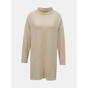 Béžový dlhý sveter so stojáčikom TALLY WEiJL vyobraziť