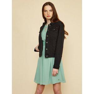 Čierna rifľová bunda ZOOT Baseline Chantelle vyobraziť