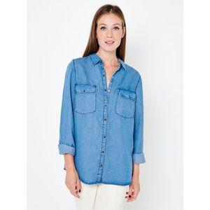 Modrá rifľová košeľa CAMAIEU vyobraziť