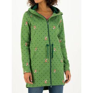 Zelená dámska bodkovaná dlhá mikina Blutsgeschwister English Garden vyobraziť