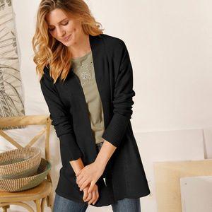Blancheporte Dlhý sveter s dlhými rukávmi čierna 52 vyobraziť