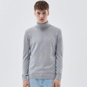 Cropp - Basic rolákový sveter - Svetlošedá vyobraziť