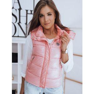 Pekná prešívaná ružová vesta SHILDA. vyobraziť