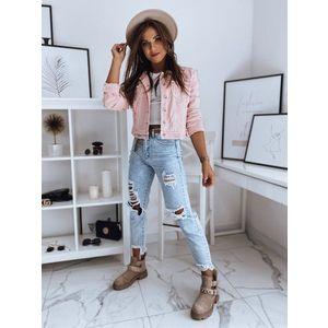 Ružová džínsová bunda BUENOS. vyobraziť