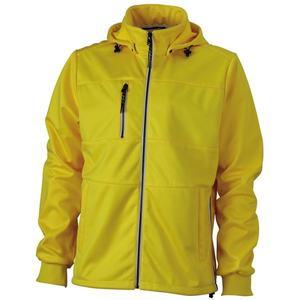 James & Nicholson Pánska športová softshellová bunda JN1078 - Slunečně žlutá / tmavě modrá / bílá | M vyobraziť