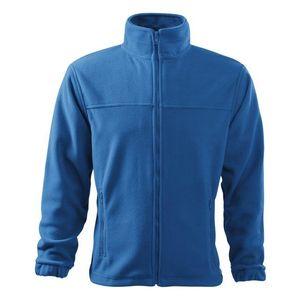 Adler (MALFINI) Pánska fleecová mikina Jacket - Azurově modrá   L vyobraziť