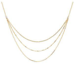 PDPAOLA Elegantný pozlátený náhrdelník so zirkónmi NIA Gold CO01-140-U vyobraziť