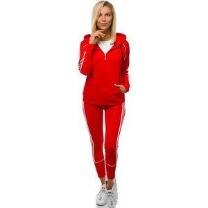 Módna dámska tepláková súprava červená JS/YW06006/5/11 vyobraziť