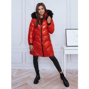 Dámsky červený kabát - M vyobraziť