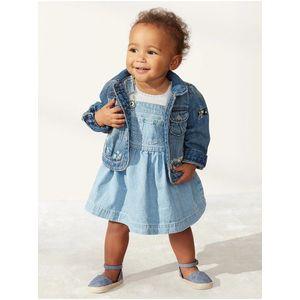 Modré dievčenské rifľové šaty GAP vyobraziť