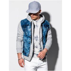 Pánska riflová bunda C322 - džínsovo vyobraziť