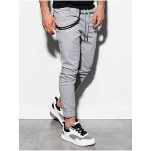 Pánske jogger nohavice P908 - svetlo šedé vyobraziť