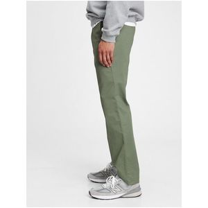 Nohavice modern khakis in straight fit with GapFlex Zelená vyobraziť