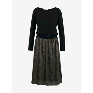 Šedo-čierne šaty s plisovanou sukňou CAMAIEU vyobraziť