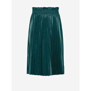 Tmavozelená plisovaná koženková sukňa VERO MODA Nellie vyobraziť