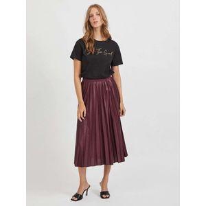 Vínová plisovaná midi sukňa VILA Nitban vyobraziť