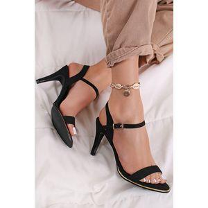 Čierne sandále na tenkom podpätku Belle vyobraziť