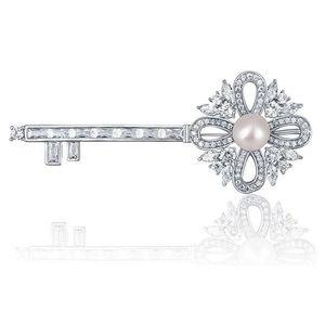 Brošňa s perlou vyobraziť