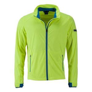 James & Nicholson Pánska športová softshellová bunda JN1126 - Jasně žlutá / jasně modrá | M vyobraziť