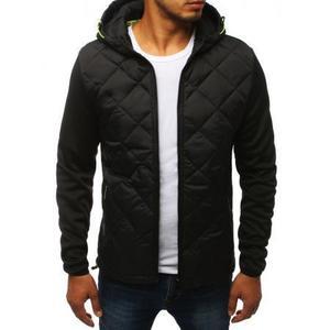 Pánska bunda prechodová jesenná / jarná športové čierna vyobraziť