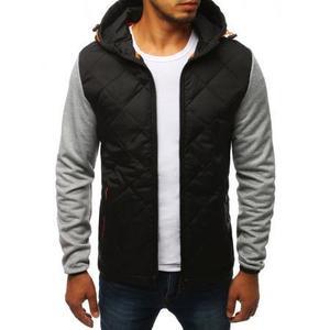 Pánska bunda prechodová jesenná / jarná športové šedá vyobraziť