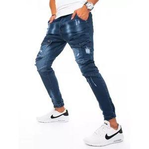 Pánske JOGGER nohavice tmavo modré vyobraziť