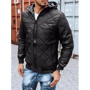 Pánska jesenná bunda s kapucňou čierna FALL vyobraziť