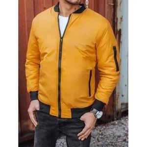 Pánska jesenná bunda žltá URBAN vyobraziť