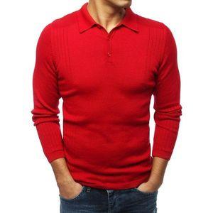 Štýlový červený sveter (wx1416) vyobraziť