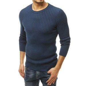 Modrý priliehavý pánsky sveter. vyobraziť
