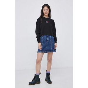 Tommy Jeans - Rifľová sukňa vyobraziť