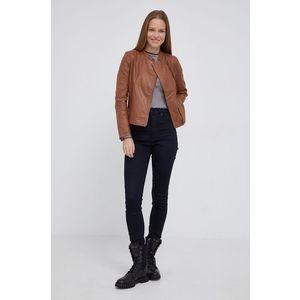 Pepe Jeans - Kožená bunda Emmylou vyobraziť